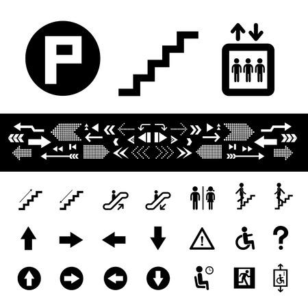 símbolo de la escalera en el fondo blanco