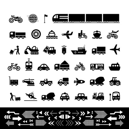 transportation icons: vector basic icon for transport