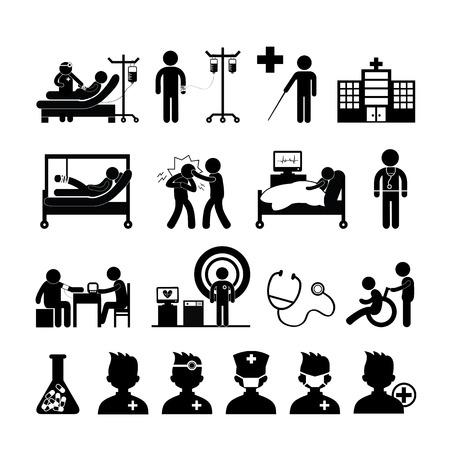 blood tests: checkup medical in hospital vector symbol cartoon