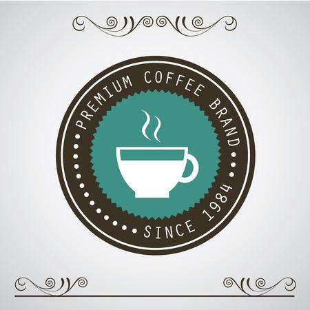 drinking coffe: vector insignias de caf� de la vendimia y etiquetas