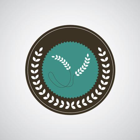 fertility emblem: wheat symbol on gray background