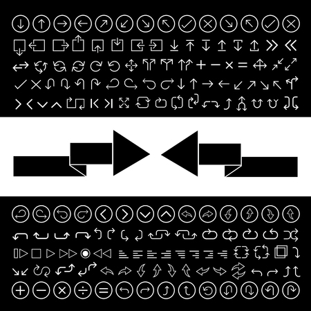application recycle: thin line arrow icons set