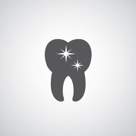 tooth icon: Tooth icon on gray background