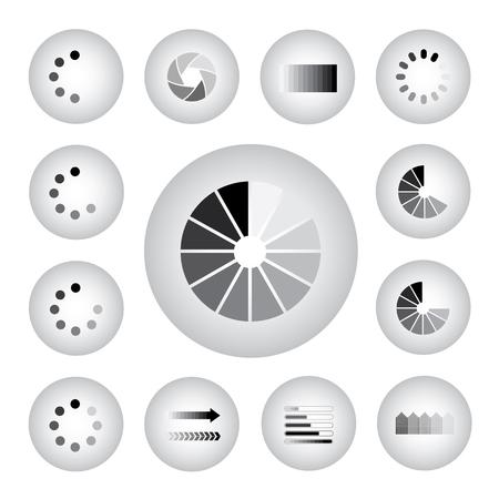 menu button: vector loading internet icon set