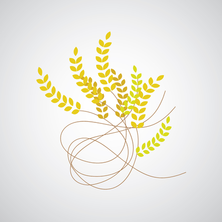 fertility emblem: wheat symbol on gray background