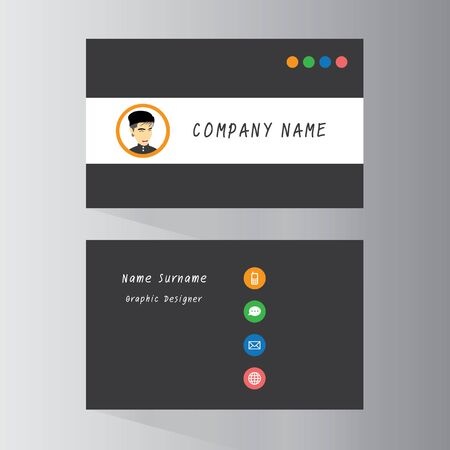 name calling: vector template cards in business company