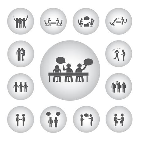 strichmännchen: Vektor grundlegende Symbol für die Freundschaft Illustration