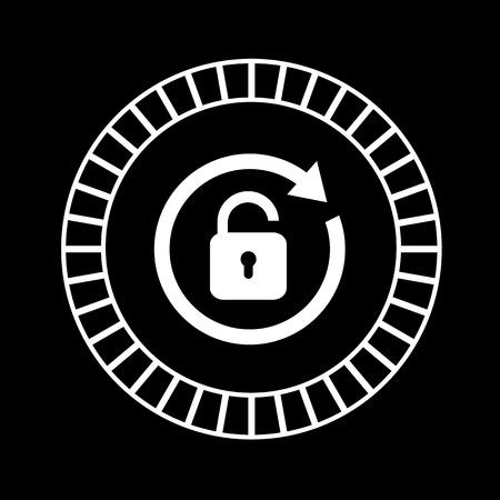 lock symbol: vector lock symbol on black background