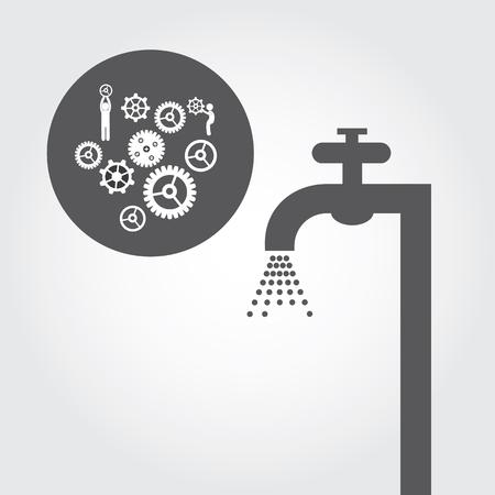 washstand: repair plumbing symbol on gray background