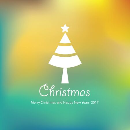 vector Merry Christmas and Happy New Year Illustration