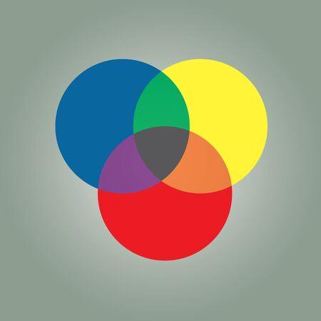 circle graph typographic color scheme Illustration