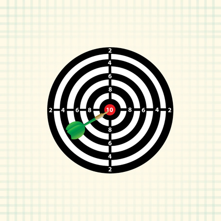 marksman: vector darts game  in the target center