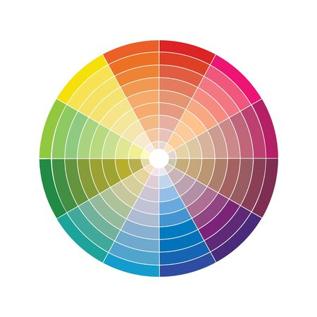vector color wheel pantone for printing