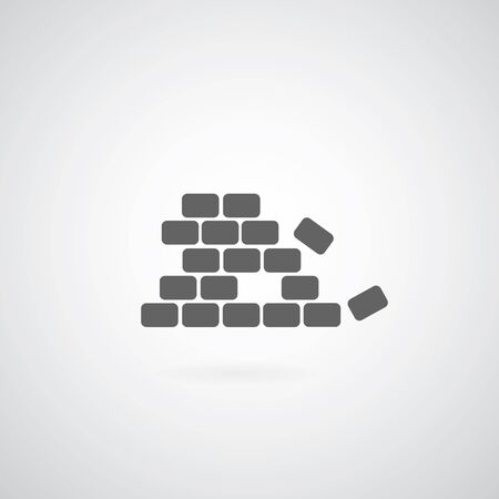 brickwork: Brickwork icon on gray background