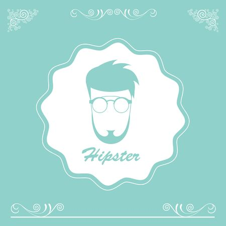 indy: vector character cartoon hipster style
