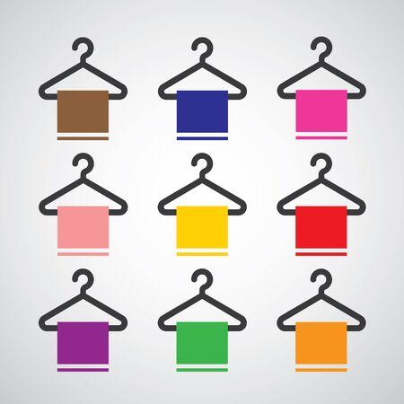 hang up: basic vector hanger icon set
