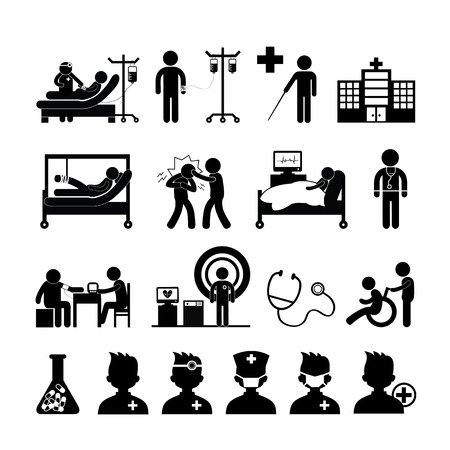 xray machine: checkup medical in hospital vector symbol cartoon