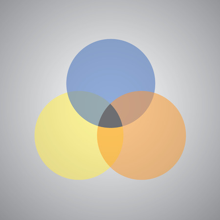 intersection: vector three intersection circles design Illustration