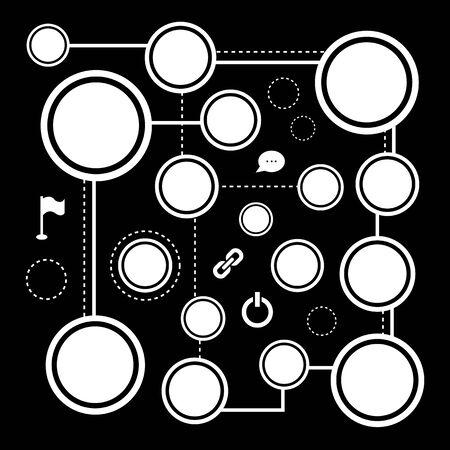 botton: vector blank button for icon set