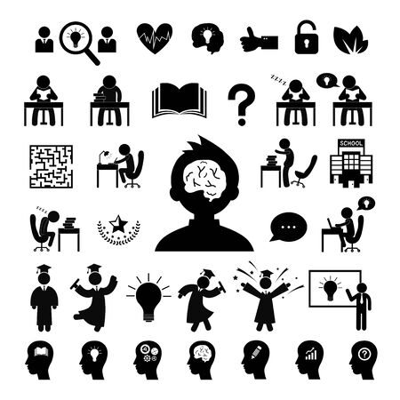 basic vector successful study symbol set