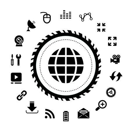 vector web and internet icon set Illustration