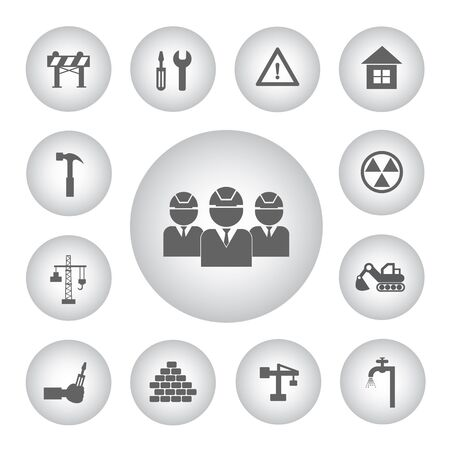 vector sign under construction: vector basic icon for construction Illustration
