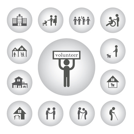 non profit: vector basic icon volunteer for non profit social service