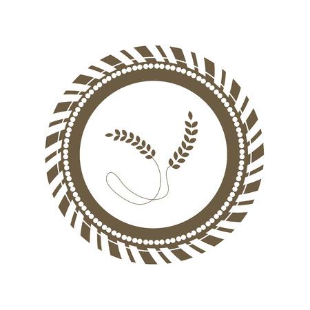fertility emblem: vector basic wheat symbol design