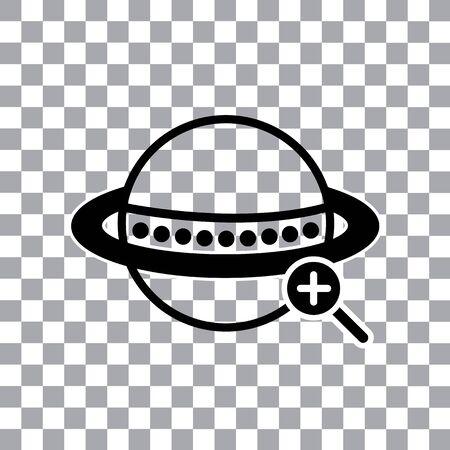 vector worldwide searching symbol around the world Illustration