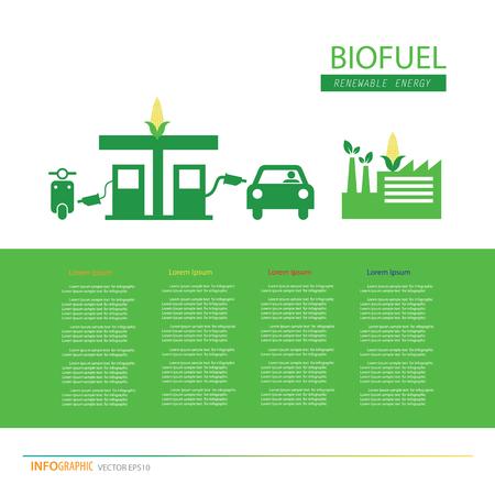 Corn ethanol bio-fuel vector icon, alternative environmental friendly fuel. Vector Illustration