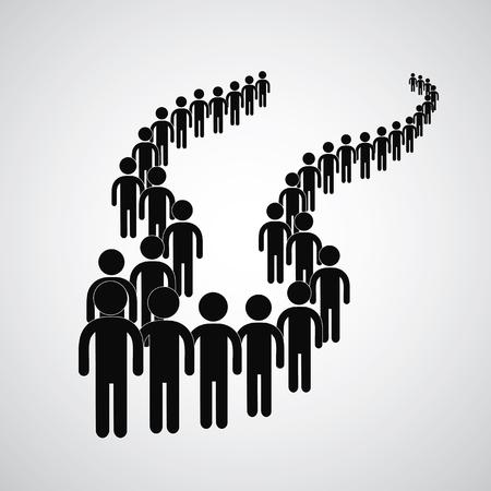 Long queue symbol vector format. Фото со стока - 80941173