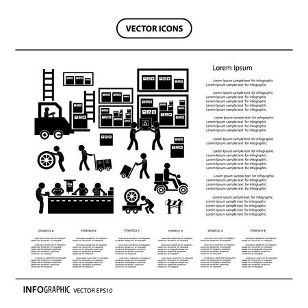ビジネスシステムの製造元とディストリビュータアイコン