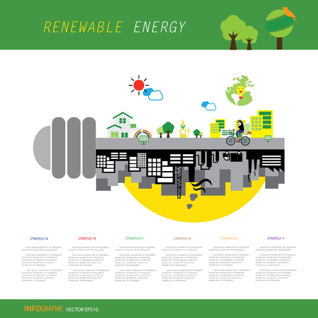 vector info chart renewable energy biogreen ecology