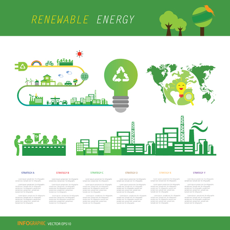 vector info chart renewable energy biogreen ecology 矢量图像