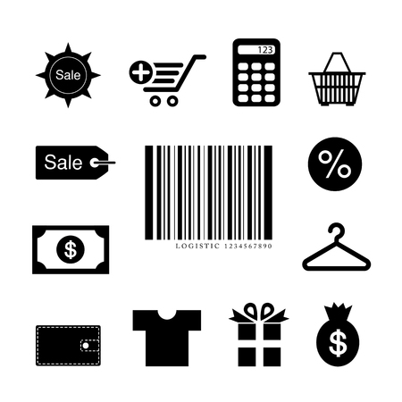 shopping symbol on gray background