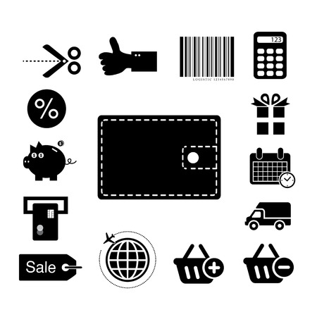 vecto shopping online icon set