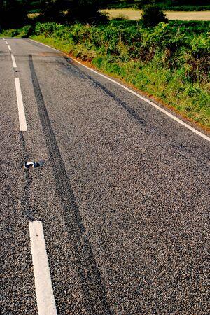Rural road crash scene Stock Photo - 1519515