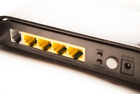 Back side of a modem photo
