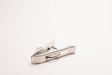 A metal clip on white background Stock Photo - 19261194