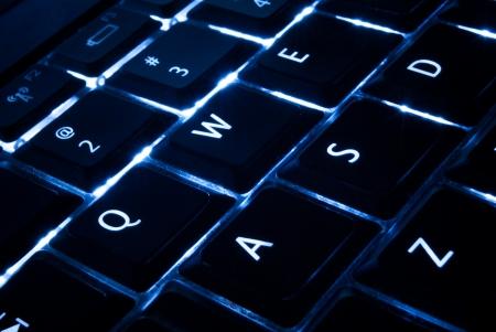 backlit keyboard: blue backlit keypad for computer and laptop