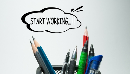 Start working photo