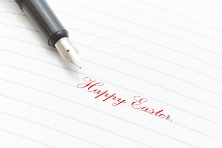 Happy Easter greeting photo
