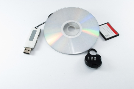 portable storage divices security conceptual images Stock Photo