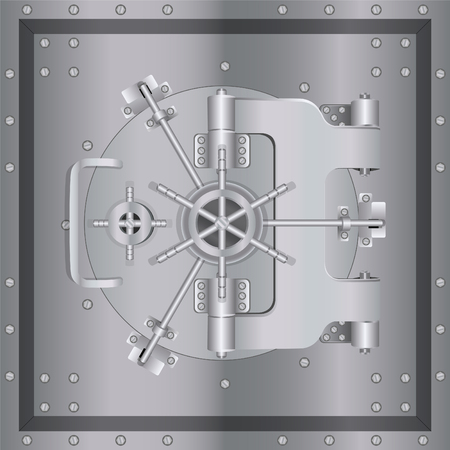 security symbol: Bank safe with armored steel with reliable protection