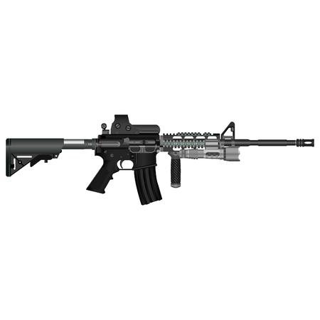 多くの軍事衝突で使用されていた自動カービン銃