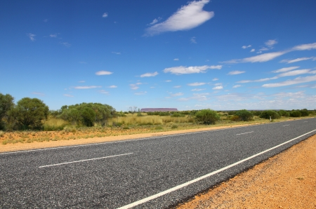 Road in the desert  Northern Territory, Australia  photo
