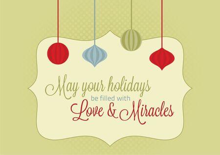 milagros: Vintage Christmas Holiday Card Milagros