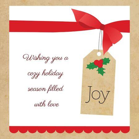 Vintage Christmas Greetings  Stock Vector - 16846742