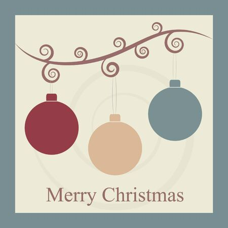 Vintage Christmas Card  Stock Vector - 16846655