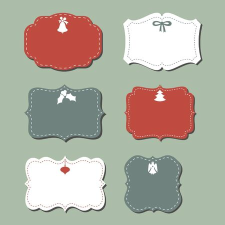 Vintage Christmas Labels Stock Vector - 16846668